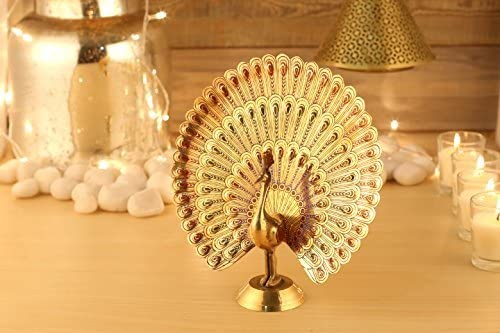 7 And 2 Inches Aatm Brass Figurine Peacock Statue Best for Home /& Office Decoration /& Feng Shui Gift Purpose Handicraft
