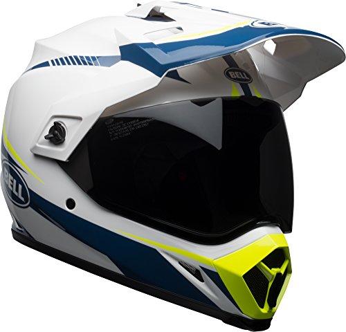 - Bell MX-9 Adventure MIPS Full-Face Motorcycle Helmet (Gloss White/Blue/Yellow Torch, Medium)