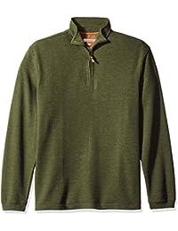 Haggar Men's Long Sleeve Hi-Definition Ottoman Knit Zip...