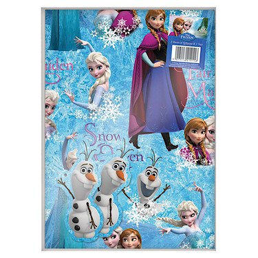 Disney Frozen Wrapping Paper & Gift Tags - 2 Sheets of Gift Wrap & 2 -