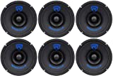 (6) Rockville RM68SP CEA Compliant 6.5 480W Midrange Car Speakers 8 Ohm