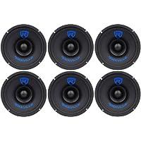 (6) Rockville RM68SP 6.5 8-Ohm 720 Watt Peak / 360 Watt RMS CEA-2031 Compliant Midrange Car Speakers With Wire MeshGrilles