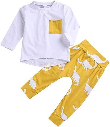 K-youth Ropa Bebe Niño Invierno Ofertas Infantil Recien Nacido Bebé Niña Otoño Camisetas Blusas Bebe Niña Pijamas Moda Dinosaurio Camisa + Pantalones Conjuntos De Ropa Bautizo: Amazon.es: Ropa y accesorios