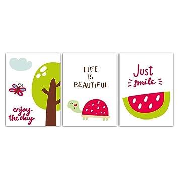 Enjoy The Life Cartoon Fruit Smile Decoración para el hogar ...