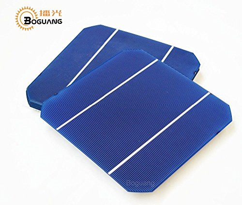 BOGUANG 25pcs 156156MM Efficiency Photovoltaic Monocrystalline Silicon Solar Cell 6x6 Prices Cheap Grade A For DIY Poly Solar Panel