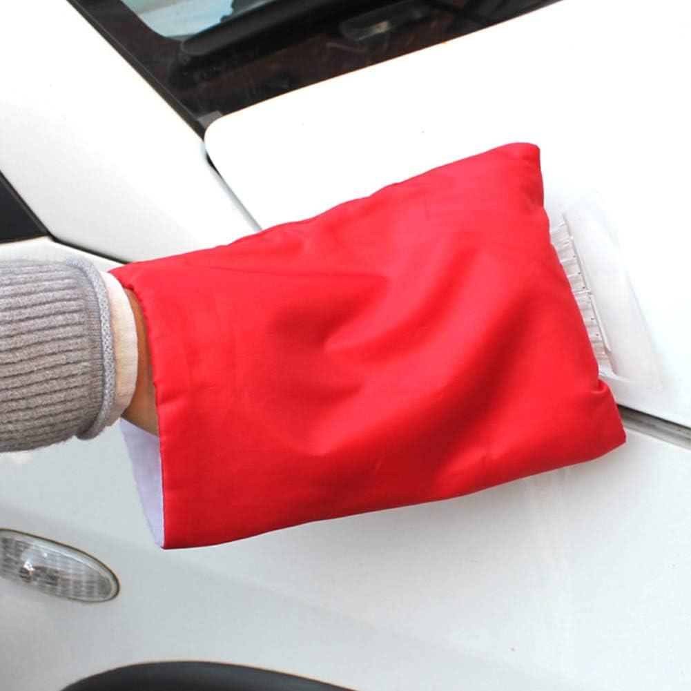 Qlf Younker Eiskratzer Mit Handschuh Windschutzscheibenschaber Windschutzscheiben Schneekratzer Mit Wasserdichtem Schneeentferner Handschuh Mit Dickem Fleece Gefüttert Auto