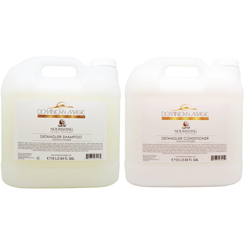 Dominican Magic Coconut Detangler Shampoo & Conditioner 2 gal Duo ''Set''