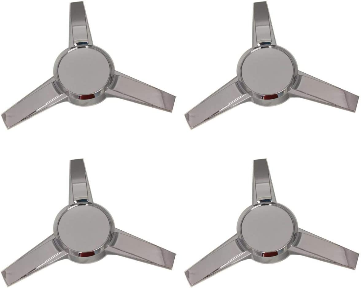 Pack of 4 Gorilla Automotive 73515 Chrome 3 Bar Spinners with Towers