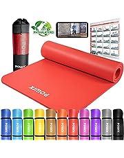 POWRX Gymnastikmatte Premium inkl. Trageband + Tasche + Übungsposter GRATIS I Hautfreundliche Fitnessmatte Phthalatfrei 190 x 60, 80 oder 100 x 1.5 cm I versch. Farben Yogamatte
