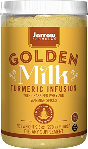 Jarrow Formulas Golden Milk, With Grass Fed Whey and Warming Spices, 9.5 Ounce (Jarrow Whey Organic Protein)