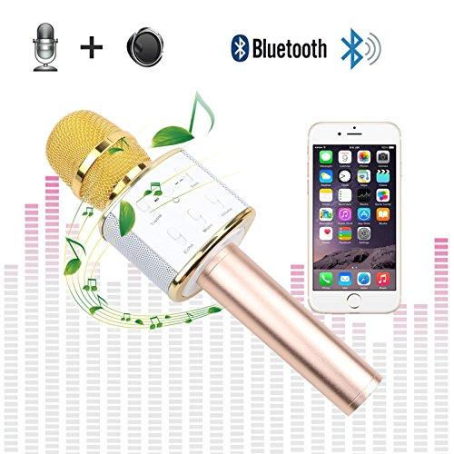 Karaoke Microphone Wireless Bluetooth for Kids Mini Portable