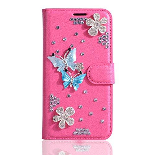 3g Glitter (Alcatel U5 (3G) Case,Gift_Source [Card Slots] Luxury Bling Glitter Diamond PU Leather Purse Flip Stand Cover Sparkle Crystal Rhinestone Wallet Phone Case for Alcatel U5 (3G) (5.0