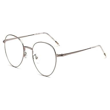 4347346010d45 Hzjundasi Rétro Vintage Ovale Des lunettes pour Femme et Homme Lentille  claire Mode Charnière à