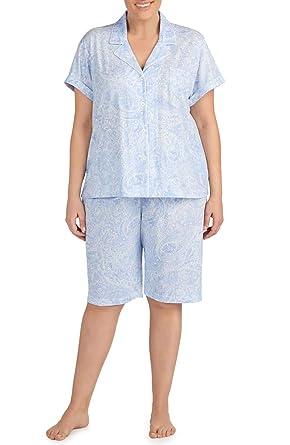 57af7145 Lauren Ralph Lauren Plus Size Women's Pajama 60% Cotton 40% Polyester Knit  (Shades