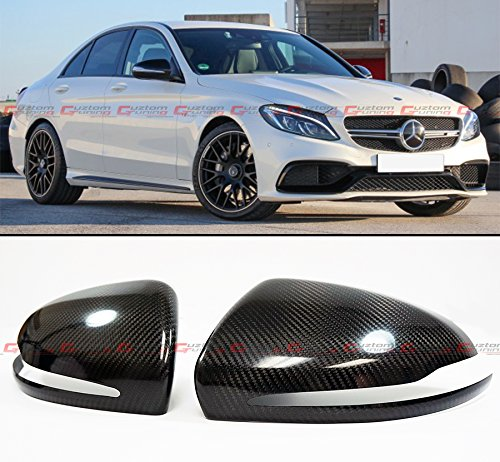 FOR 2015-2018 MERCEDES BENZ W205 C-CLASS C300 C400 & W213 E-CLASS & W222 S CLASS S550 S600 CARBON FIBER SIDE MIRROR COVER CAPS PAIR