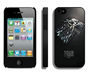 New Unique And Popular iPhone 4S Case Designed With Game Of Thrones 1 Black iPhone 4S Cover