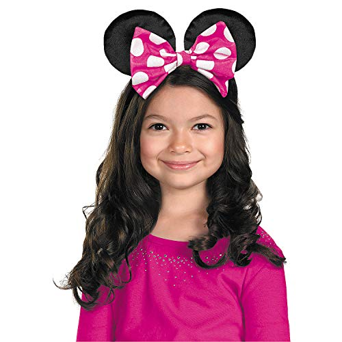Fun Express - Minnie Mouse Ears W/rev Bow for Halloween - Apparel Accessories - Costume Accessories - Costume Kits - Halloween - 1 Piece]()