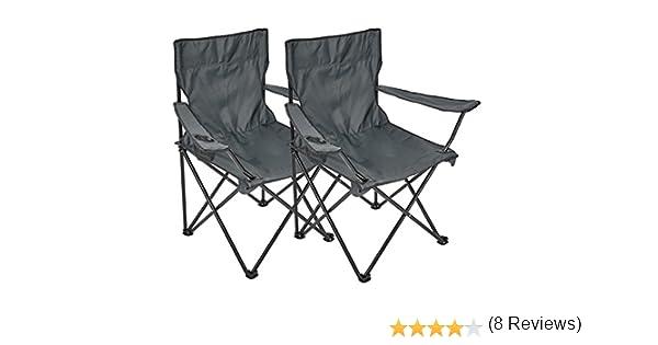 Silla plegable, 2 unidades, silla de camping con soporte para ...