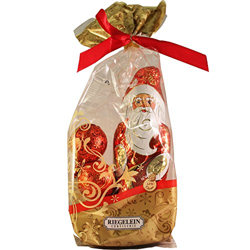 Riegelein Classic Chocolate Santa Bag 100g