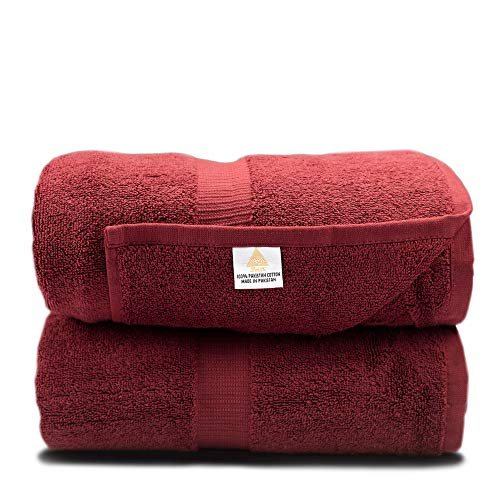 Zenith Luxury Bath Sheets - (2 Piece) Extra Large 40 X 70 Luxury Bath Towels, 900 GSM, High Absorbency, Thick and Heavy, 100% Cotton ()