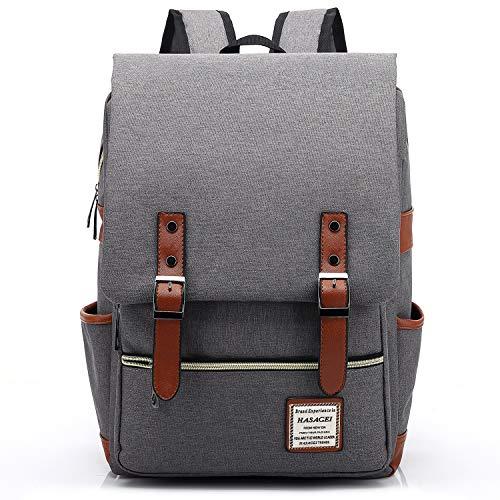 HASAGEI Vintage Backpack Unisex Rucksack Daypack Casual School Travel Laptop Tablet Bags