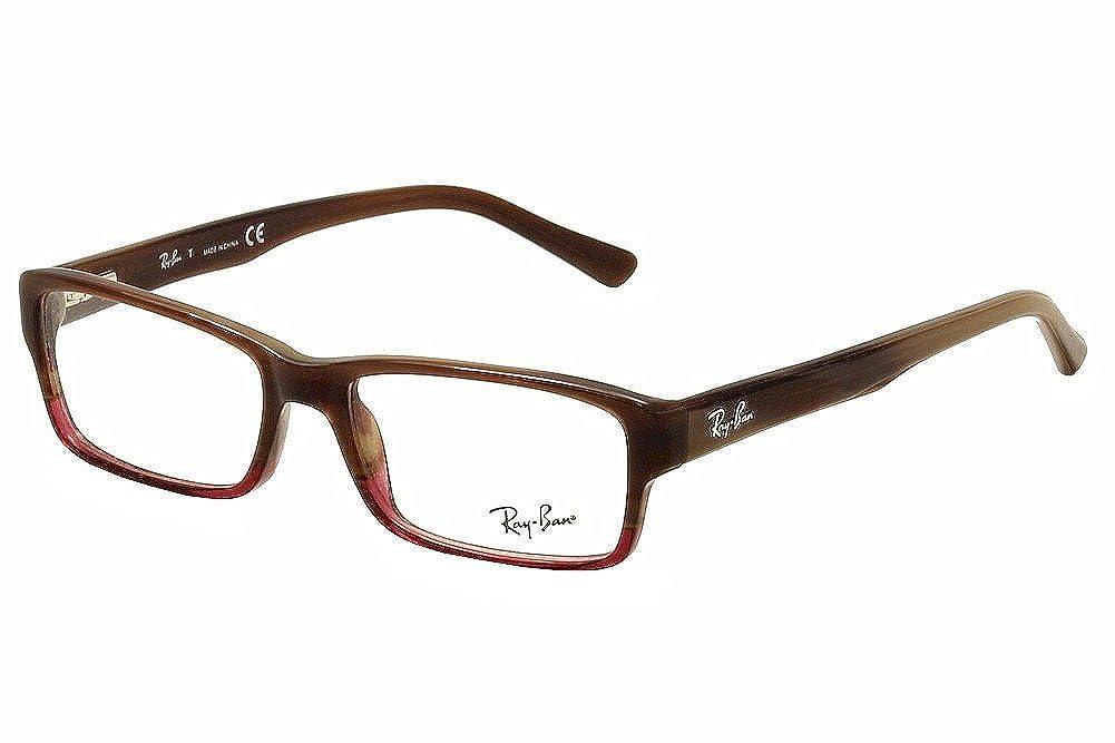411fbf796b Amazon.com  Ray-Ban Vista RX5169 5541 Eyeglasses Brown Horn Grad Trasp  Bordea  Clothing