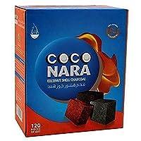 Coco Nara Hookah Shisha Natural Charcoals, 120 Count