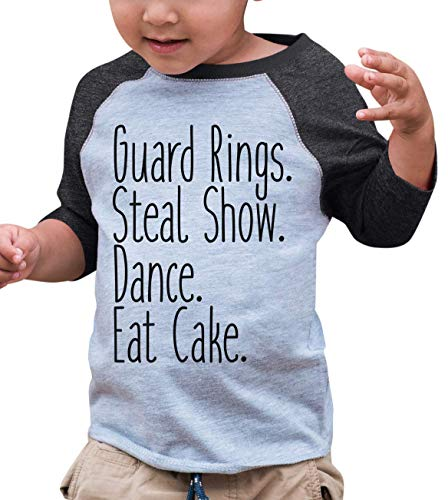 7 ate 9 Apparel Toddler Boy's Funny Ring Bearer Wedding Grey Raglan 4T -