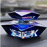 uzhopm Crystal Car Perfume Holder Seat Ornament Car Air Freshener Perfume Diffuser Car Home Office Decor (Blue)