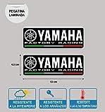 Pegatina Yamaha Factory Racing LAMINADA Impresion Alta Calidad 2 Unidades
