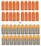 GLOCK Factory 9mm Orange Dummy Rounds, 20 Pack + Ultimate Arms Gear ST Action Pro 20 Pack of Inert 9x19mm Parabellum NATO Luger Pistol Orange Safety Trainer Cartridge Ammo Shell Rounds Nickel Case