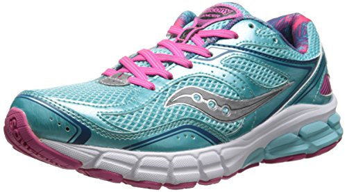Saucony Women's Lancer Running Shoe,Aqua/Pink/Grey,7.5 M US