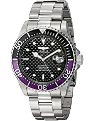 Invicta Mens 18159 Pro Diver Analog Display Japanese Automatic Silver Watch