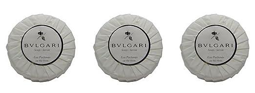 Bvlgari/Bulgari Au the Blanc (White Tea) Pleated Soaps - Set of 3, 150 gm/5.3 oz each