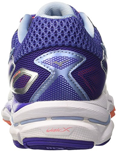 Mizuno Ladies Scarpa Wave Ultima Wos Scarpe Da Corsa Multicolore (bianco / Fierycoral / Liberty)