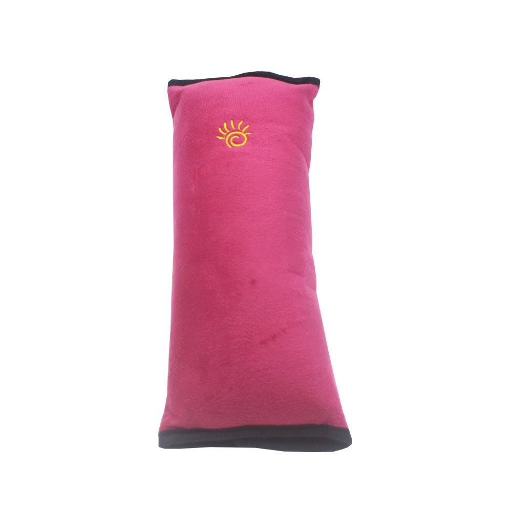 Childhood Seat Belt Shoulder Pad Soft Seat Belt Neck Pillow Adjustable Belt Cushion for Children Kids Claret