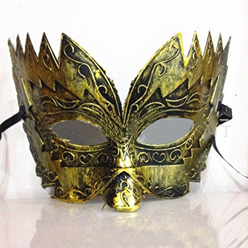 [Classic Retro Greek Roman Soldier Gladiator Mask Party Masquerade Ball Mardi Gras Facial Eye Mask Men 2016] (Xenomorph Warrior Costume)
