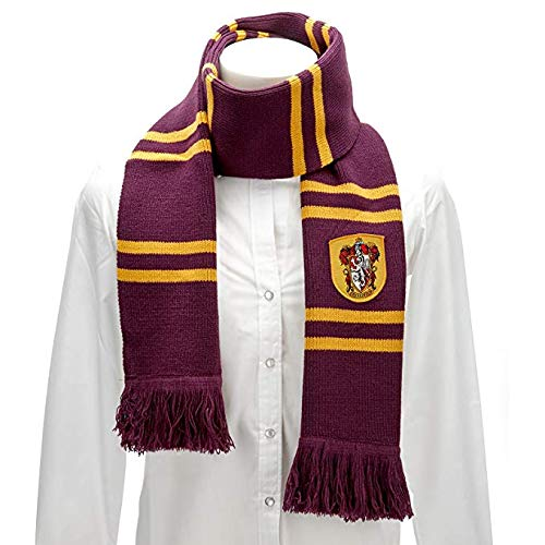 Cinereplicas Harry Potter Scarf - Official - Authentic - Ultra Soft Knitted Fabric (Red & Gold (Gryffindor)) -