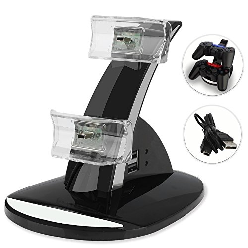 Playstation 3 Controller Charger, CBSKY LED Dual Controller Charger Power Docking Station Charger Stand for Playstation3, PS3 DualShock 3 Charging Station