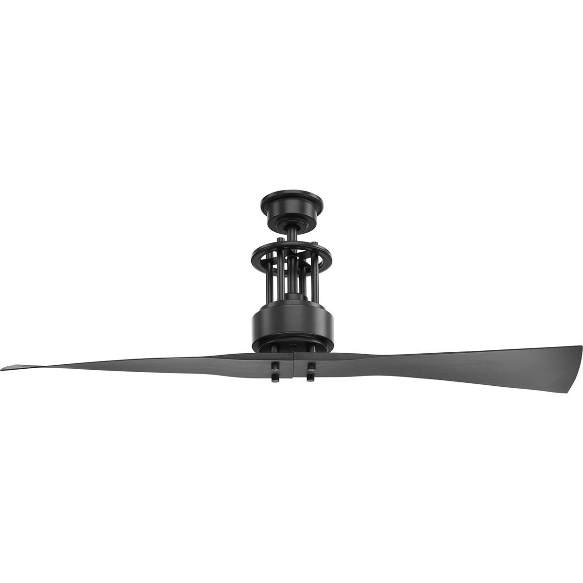 Progress Lighting P2570-143 Protruding Mount, 2 Graphite Blades Ceiling fan, Graphite