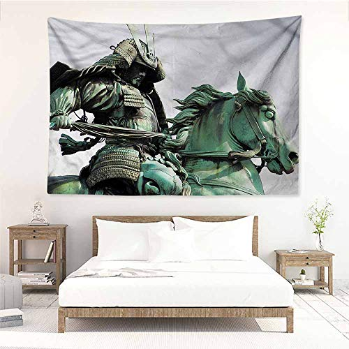 Sunnyhome Fashion Tapestry,Sculptures Samurai Warrior Horse,Stylish Minimalist Fresh Style,W84x54L
