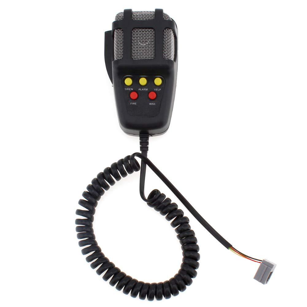 XuBa 7 Sound Laute Auto Warnung Alarm Polizei Feuer Sirene Air Horn PA Lautsprecher 12V 100W