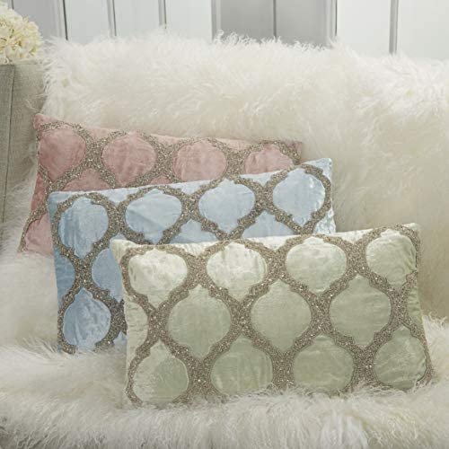 Inspire Me Home D cor Beaded Lattice Spa Throw Pillow 12 x 21