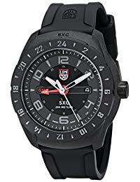 Luminox Men's A.5021.GN SXC PC Carbon GMT Black Silicone Watch