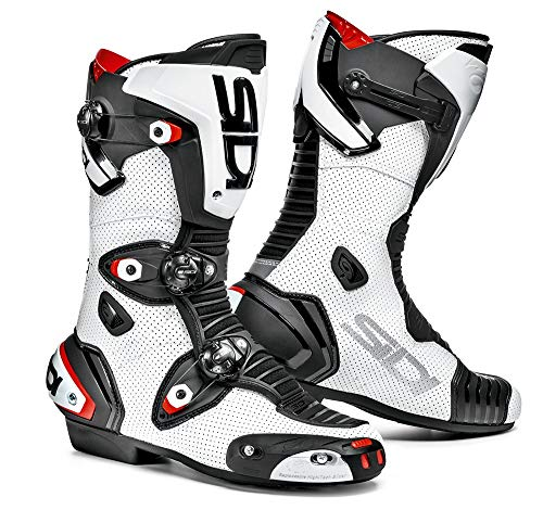 (Sidi Mag-1 Air Motorcycle Boots (11/45, Black/White))