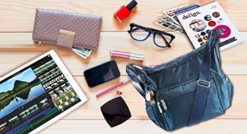 Suvelle Lightweight Hobo Travel Everyday Crossbody Bag Multi Pocket Shoulder Handbag 9020 by SUVELLÉ (Image #4)