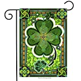 st patricks outdoor flags - Shamrocks St. Patrick's Day Garden Flag Clovers Irish Green 12.5