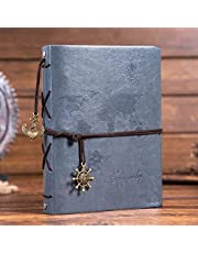 Leather Scrapbook DIY Photo Album Memory Book, 60 Pages Hand Made DIY Albums for Travel Graduation Family Anniversary Wedding Gift