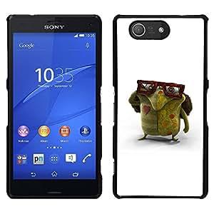Be-Star Único Patrón Plástico Duro Fundas Cover Cubre Hard Case Cover Para Sony Xperia Z4v / Sony Xperia Z4 / E6508 ( Glasses Green Monster Love Creature Art )