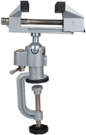 NUZAMAS 2 in 1 Schraubstock, Aluminiumlegierung, um 360 Grad drehbare Klemme für elektrische Bohrmaschine, Stentschleifer, Werkzeughalter